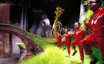 Deep Roy in one of several dance numbers as the Oompa Loompas