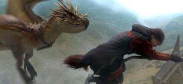 Harry Battling a Dragon