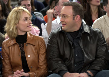 Kevin James and Amber Valletta