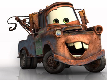 Mater (short for Tow-Mater) voiced by Larry The Cable Guy