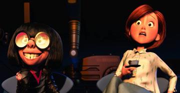 Mrs. Incredible (Elastigirl) visits her favorite designer.