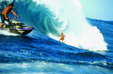 Tow-In Big-Wave Surfing with a Jet Ski